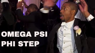 The Atomic Dog Stomp Omega Psi Phi [Kevin and Imani Wedding]