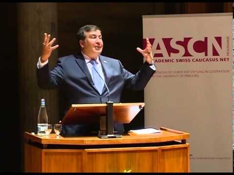Mikheil Saakashvili's lecture at Fribourg University, Switzerland.