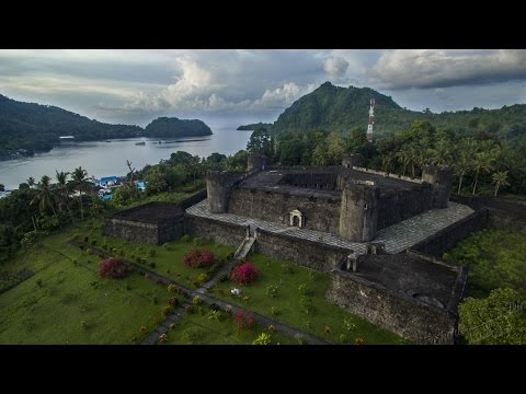 Banda islands, Indonesia - by drone