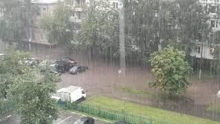 Сильный ливень в Москве. 27 июля 2020 года