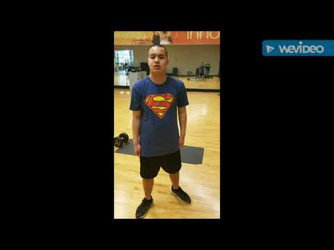 Autism Teenage Individual Performing mixed Workouts with MMA Karate moves.Part.1. Miami,Fl,USA.