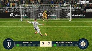 PES 2019 | JUVENTUS vs INTER | Penalty Shootout | RONALDO vs ICARDI | Gameplay PC