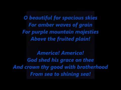 AMERICA ROCK THE BEAUTIFUL UPBEAT Words Lyrics Patriotic Memorial Day July 4 sing-along songs