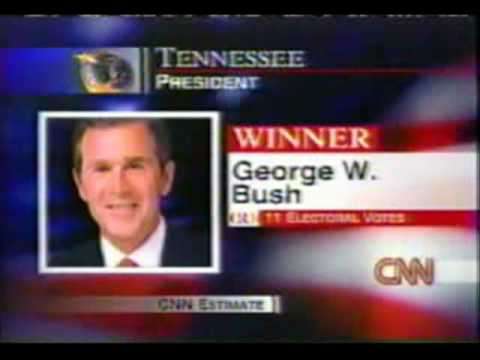 George W Bush Humiliates Al Gore By Winning Tennessee 2000