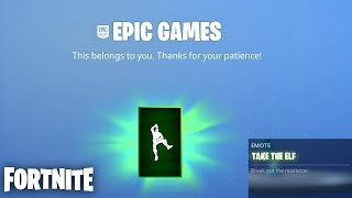 "How to Unlock the Free ""Take the Elf"" Emote in Fortnite Right Now! (Fortnite Free Emote)"
