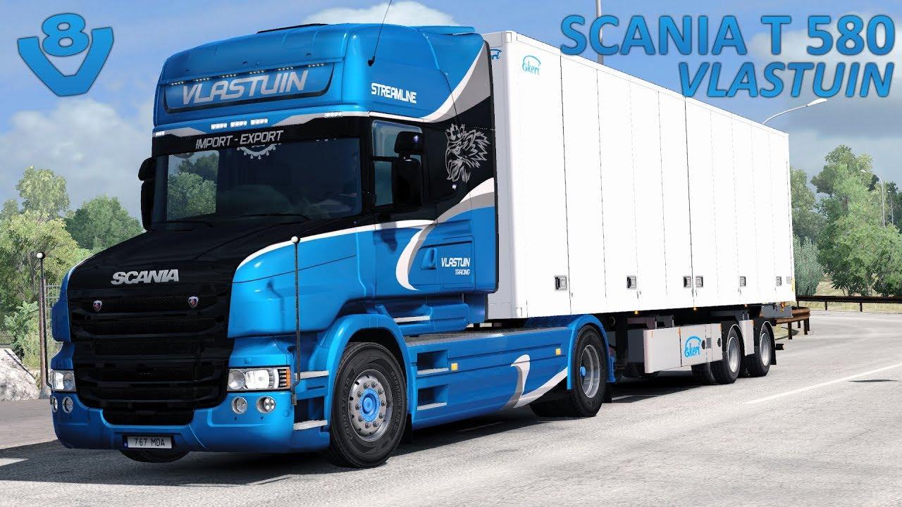 ets2 1 30 scania t v8 open pipe italy dlc ekeri trailer rh youtube com Scania V8 Engine Scania V8 Logo