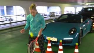 Parking Challenge with Angelique Kerber - Porsche Tennis Grand Prix 2016