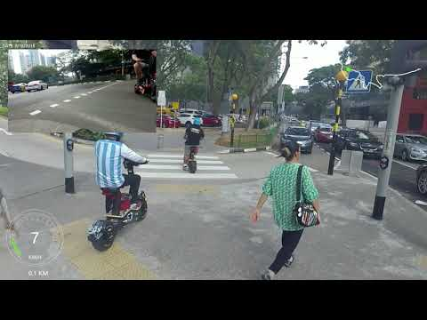 Electric Scooter Velocifero MAD Singapore (Dual Cam) Afternoon East Coast Ride Out