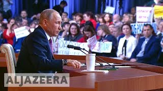 Syria, N Korea feature in annual Putin press conference