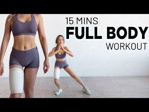 15 Mins Full Body FAT BURN Workout   No Jumping   Beginner Friendly