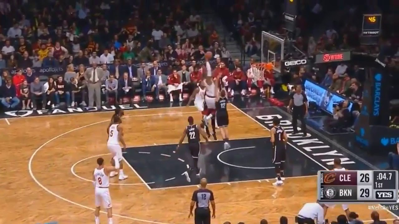 02cf12834ce LeBron James Brings the Nets Crowd to Their Feet with Dunk on Joe Harris! Cavaliers  vs Nets