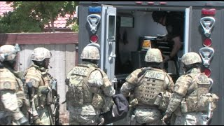 Police SWAT Team Drug Raid In West Side Modesto, California (Special Weapons & Tactics Team)