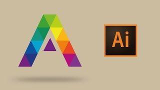 Adobe illustrator CC  как нарисовать в иллюстраторе логотип | Logo Tutorial