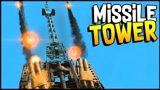 Crossout - New & Improved Missile Tower Build! Lock On Artillery! - Crossout Gameplay
