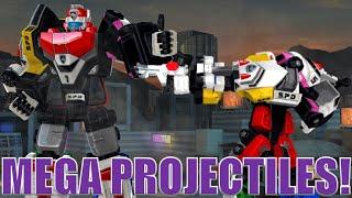 Mega Projectiles!  Power Ranger Legacy Wars Megazord
