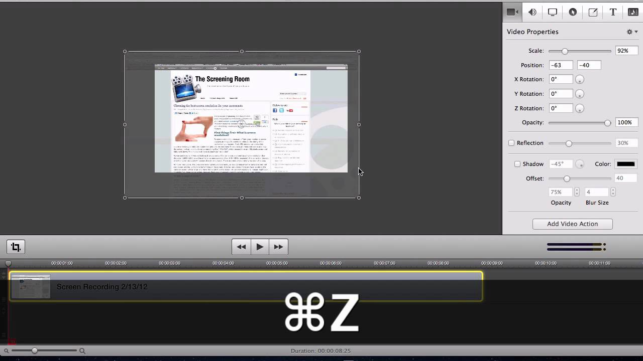 How to size your screen recording videos to be full-screen YouTube