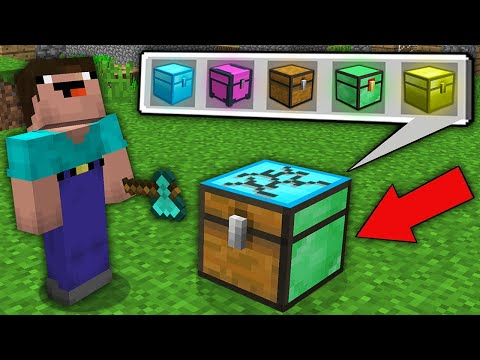 Minecraft NOOB Vs PRO: WHAT SECRET CHEST DROP NOOB FROM THIS MULTI CHEST? Challenge 100% Trolling