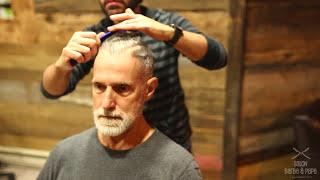Haircut for Older Senior Men and Gentleman | Undercut Hairstyle & Beard Trim 2017