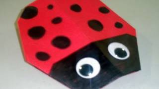 How To Make A Cute Paper Lady Bug Origami - Ep