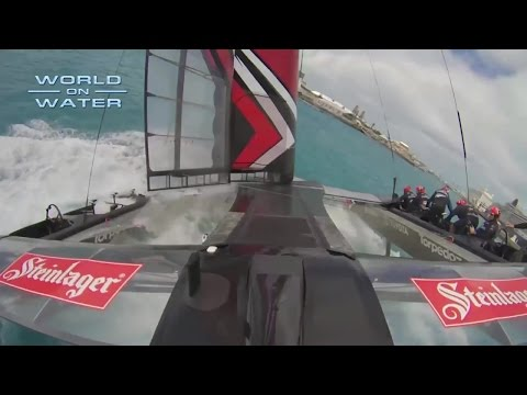 WoW 35th Americas Cup Report April 29 17 Kiwi Nosedive, Russel #3, Skippers,Testing more