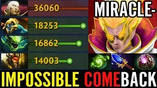 Comeback Like A HERO Dota 2 Miracle EPIC Invoker Gameplay Brain Hacked! COMBO