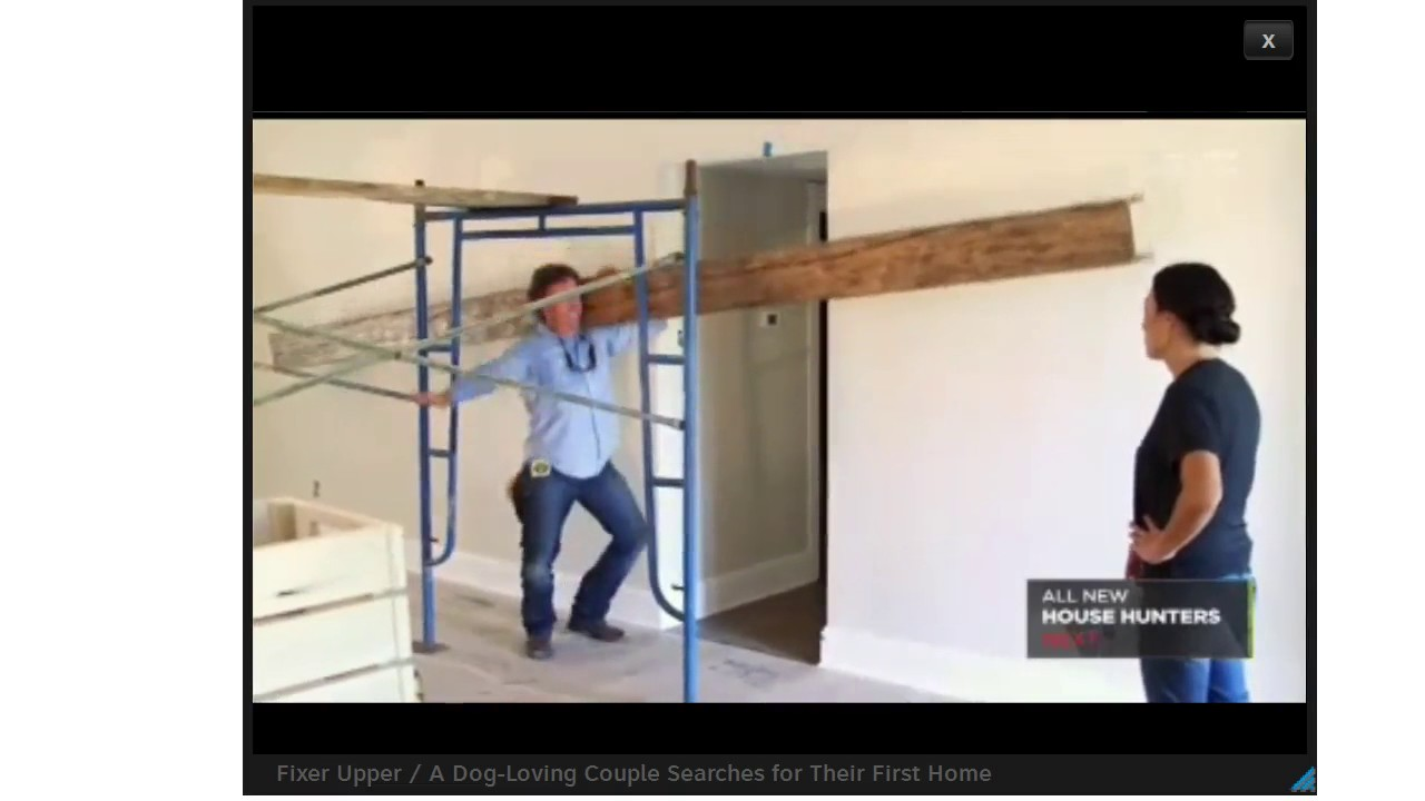 Old World Traditions Fixer Upper Faux Beam Scene