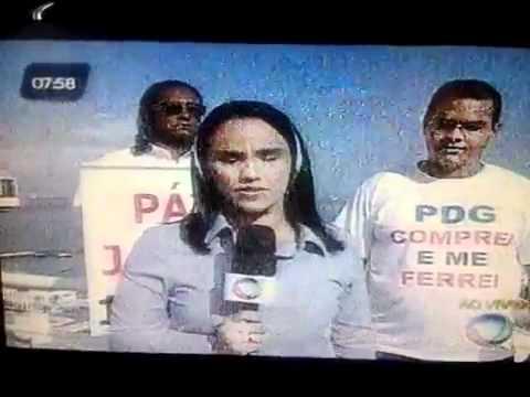 Protesto Contra PDG realty - entrevista Varela ao vivo (09_03_2012)
