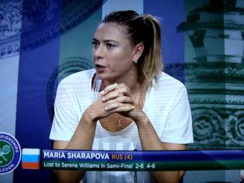 Maria Sharapova Wimbledon Presser
