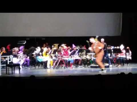 Desert Hot Springs High school wind symphony at Palm Springs High school Spooktacular🎃👹😈💀👻2017