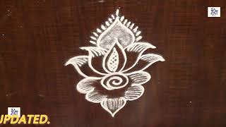 Simple Kolam /  rangoli Design without using Dots    maitrin 2018