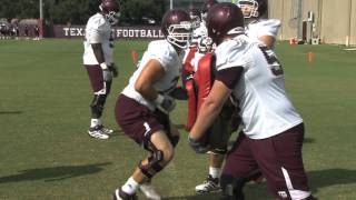 12thManTV Training Camp Uncut: Offensive Line