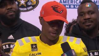 U S Army All American Bowl Jamire Calvin announcement 01-07-17