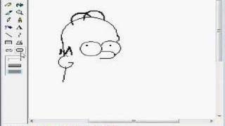 How to Draw Hommer simpson dibujado con el paint draw
