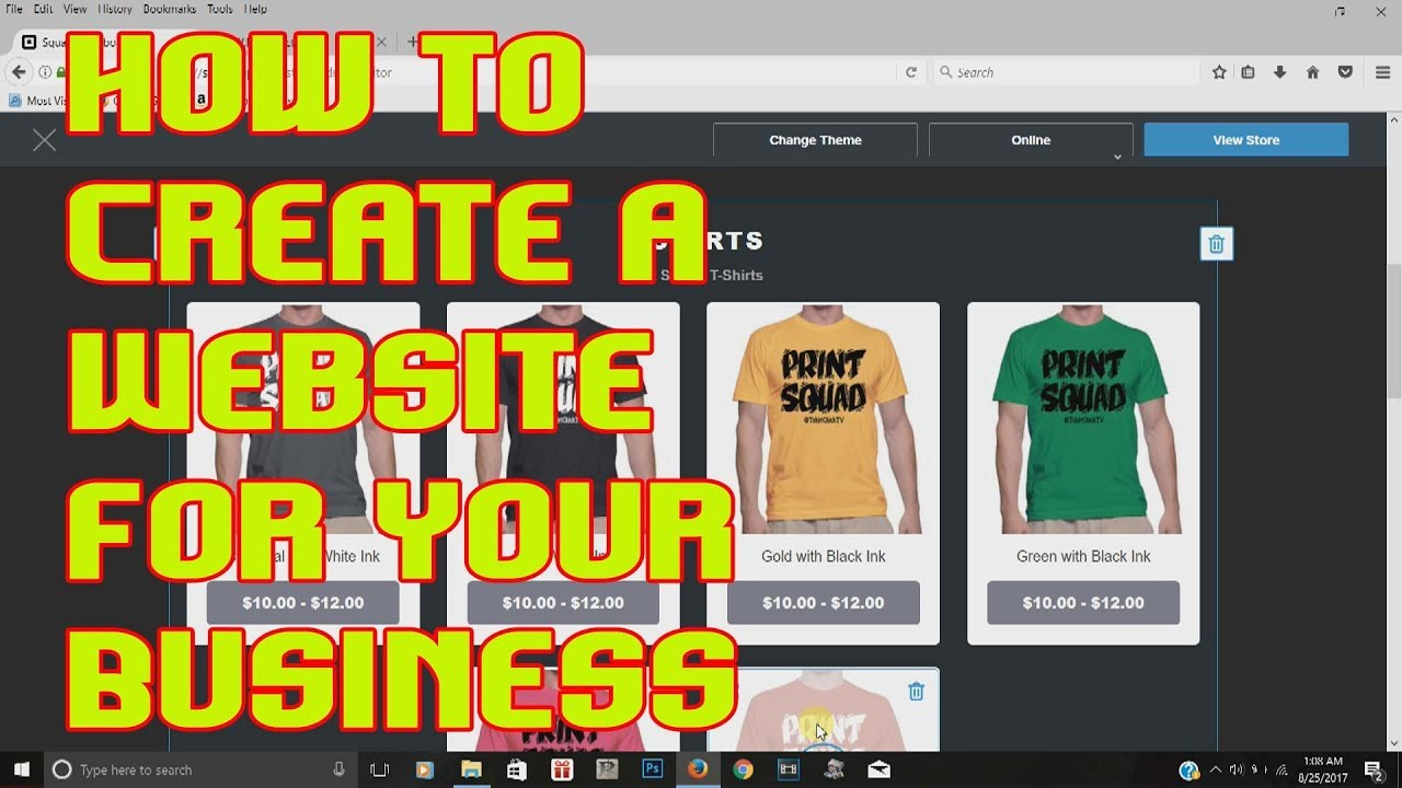 How To Create A Website Free Easy Tshirtchick Youtube