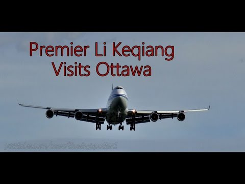 Chinese PM Li Keqiang Arriving in Ottawa to Meet Justin Trudeau
