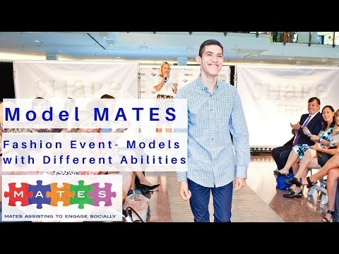 Models with Autism star in 'Model MATES' - Models with Autism walk the catwalk