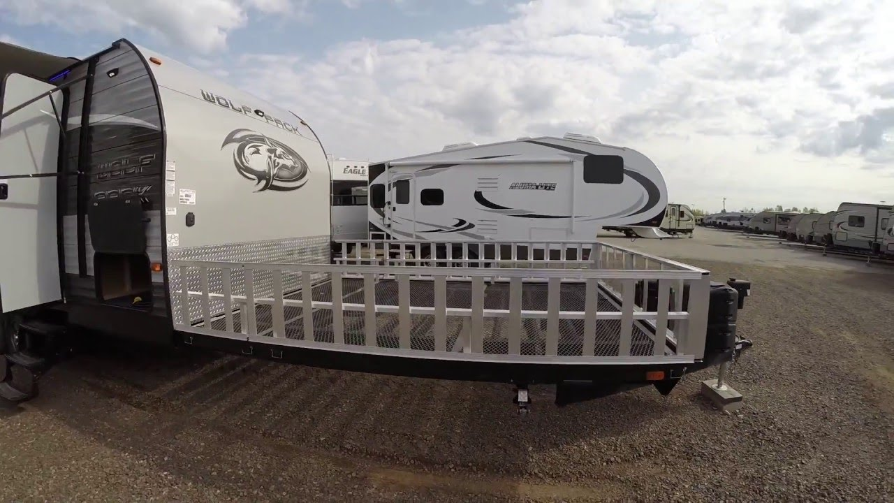 2017 Wolf Pack 20 10 Toy Hauler Travel Trailer Only 5 985 Pounds