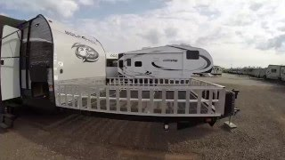 2017 Wolf Pack 20 Pack 10 Toy Hauler Travel Trailer only 5,985 Pounds!