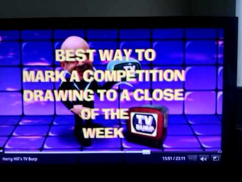 Harry Hill best way to mark a competition drawing to a close of the week