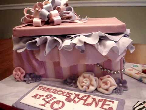 Shoebox Fondant Birthday Cake YouTube
