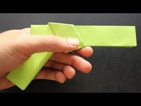 How To Make Origami Gun Paper Guns Youtube