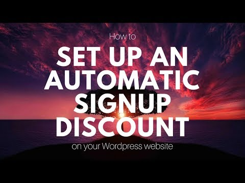 How To Setup An Automatic Mailchimp Discount On Your Website