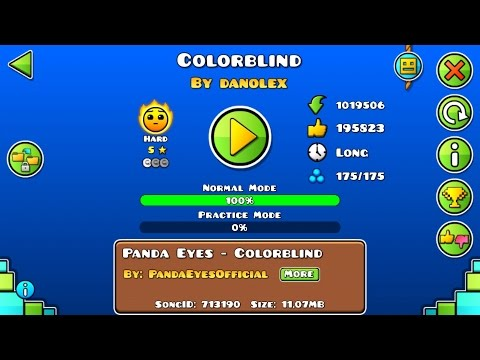 Colorblind von Donolex | Geometry Dash User Maps #54