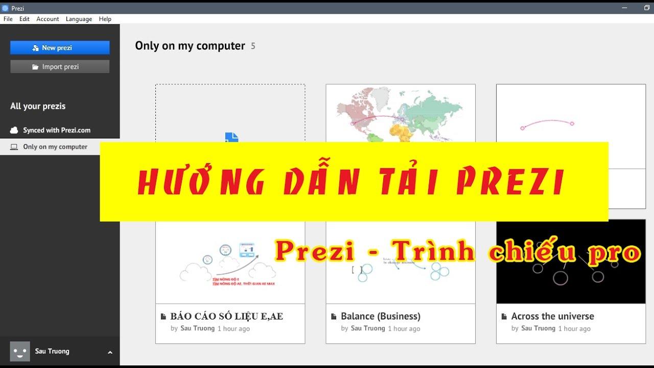 Hướng dẫn tải phần mềm PREZI + CRACk  || Trình chiếu chuyên nghiệp