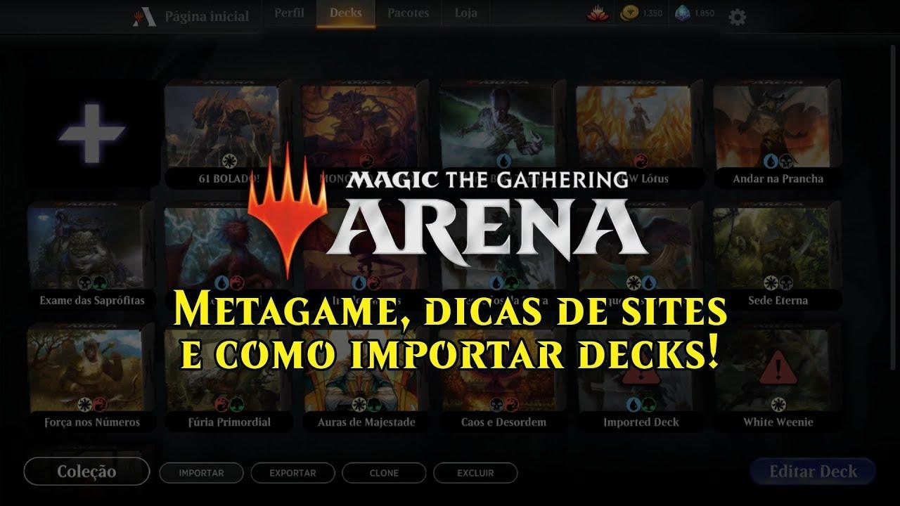 MTG Arena: Dicas de Metagame, Sites e Importar Decks!