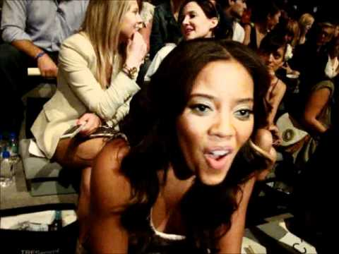 Angela Simmons at Charlotte Ronson Pre show interview MBFW NY SS 2012 Anastasia Lambrou