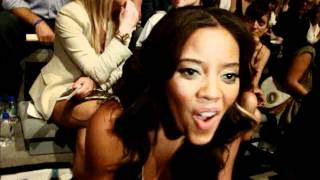 Angela Simmons at Charlotte Ronson Pre show interview MBFW NY SS 2012 Anastasia Lambrou Thumbnail