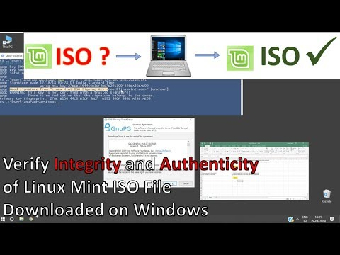 Verify Linux Mint ISO file on Windows - YouTube