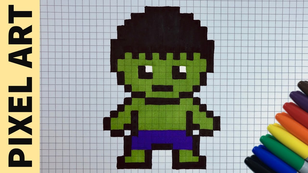 Come Disegnare Hulk Pixel Art How To Draw Hulk Pixelart