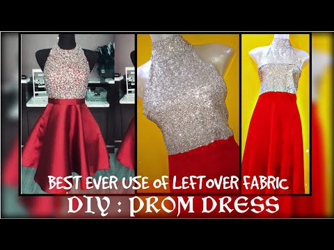 diy-:-prom-dress/gown-using-left-over-fabric~